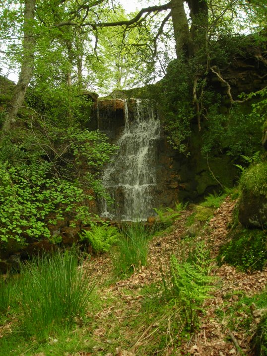 waterfall on moorland beck
